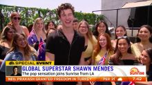 Pop sensation Shawn Mendes joins Sunrise from LA