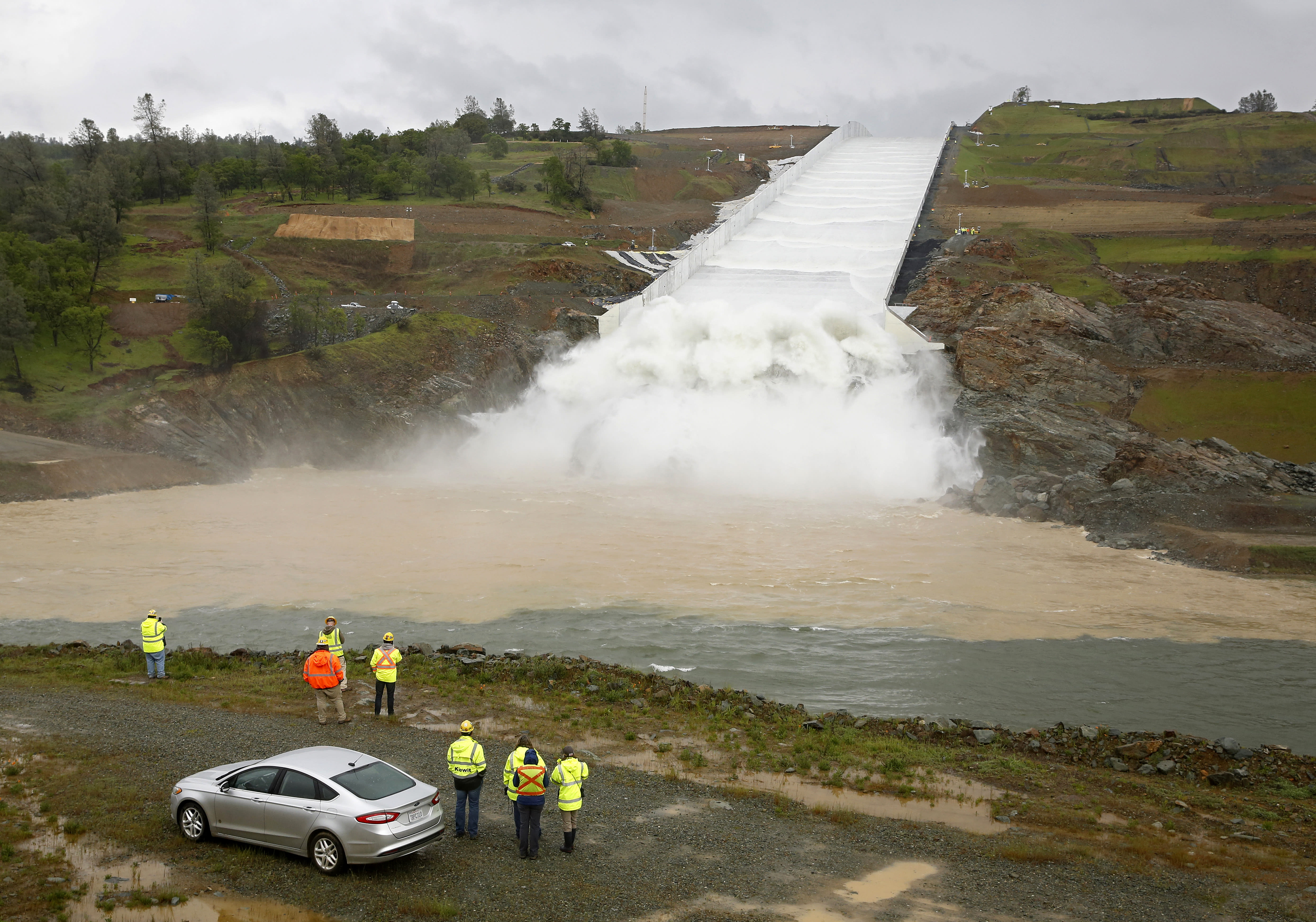 California turns to dam's spillway for 1st time since crisis
