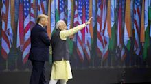 Trump and Modi Hand-in-Hand on Border Security at U.S. Rally