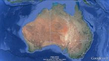 Australia has drifted about five feet