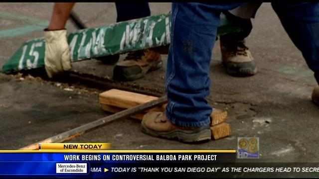 Work begins on controversial Balboa Park project