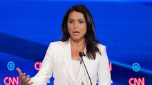 Tulsi Gabbard clashes with Democratic rivals over 'Syrian regime change war'