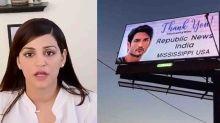 Sushant's Sister Shweta gets angry on the removal of Hollywood billboards