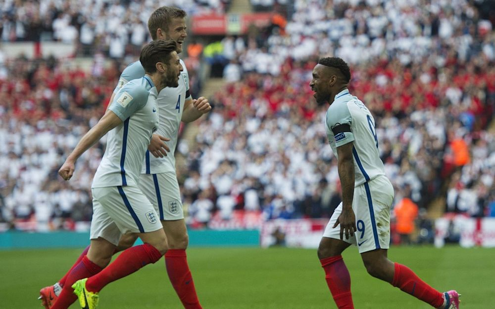 Jamie Vardy and Jermain Defoe scored as England won 2-0 against Lithuania - Rex Features