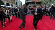 Jaime Foxx and Andrew Garfield's Unusual Greeting