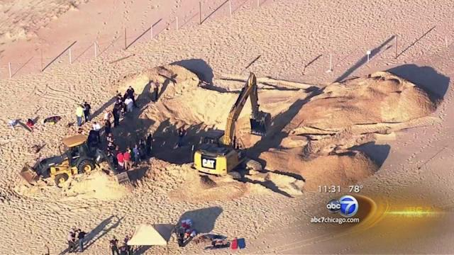 Crews examine Indiana dune at Mount Baldy where boy was trapped
