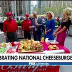 Celebrating National Cheeseburger Day on Fox Square