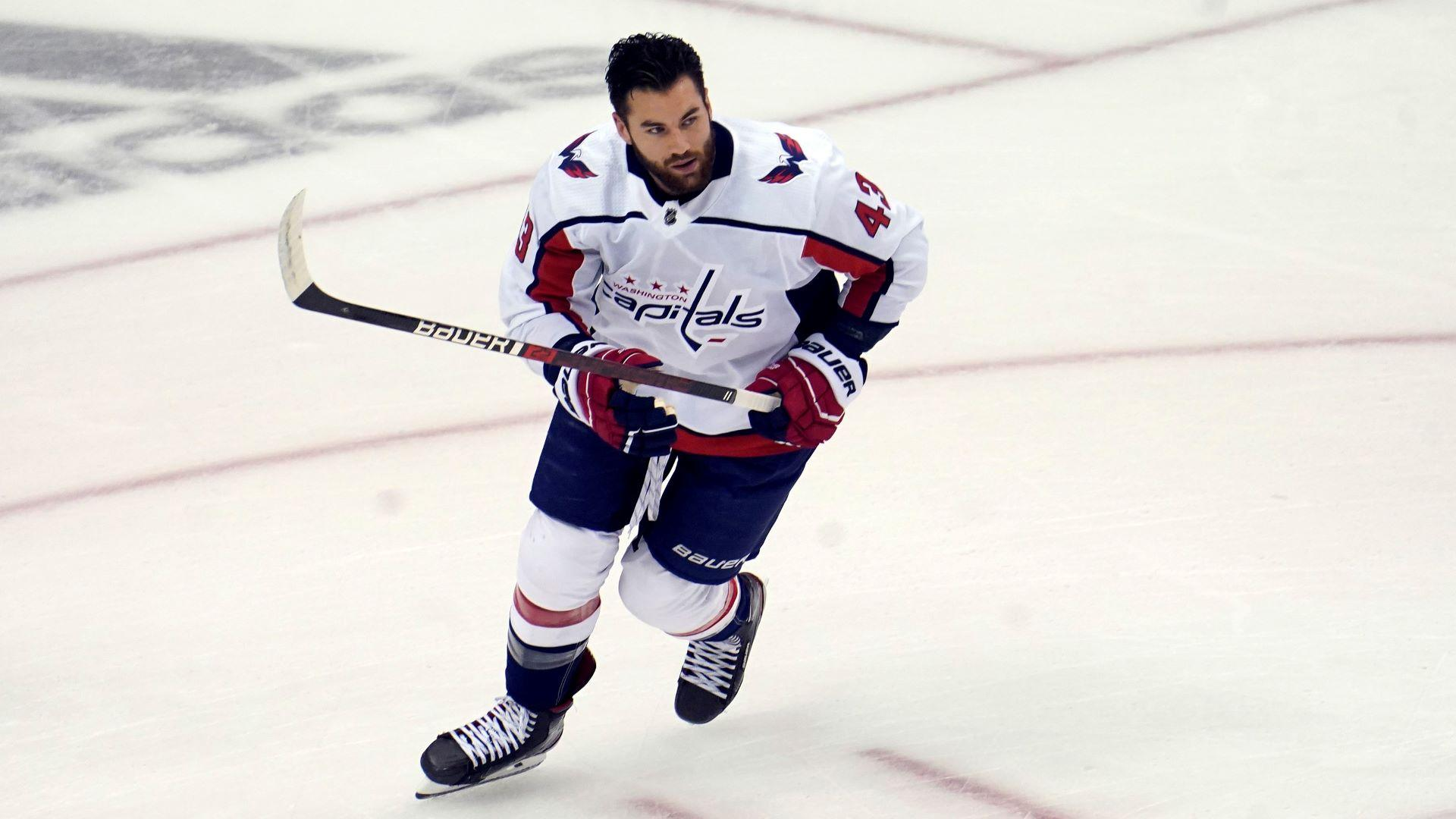Tom Wilson Practiced Monday But His Status For Tuesday S Game Remains Uncertain