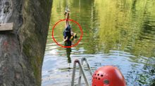 Boy, 6, stuck in terrifying position in tangled rope swing