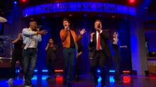 Jamie Foxx and Ansel Elgort Battle in Hilarious Singing Riff-Off With James Corden