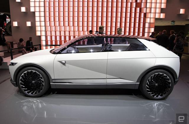 Hyundai goes retro-futuristic with its 45 EV concept