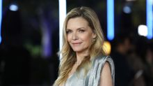 Michelle Pfeiffer, 59, smolders in metallic gown with plunging neckline