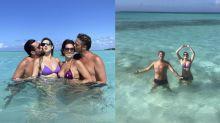 Fábio Porchat e Dani Calabresa se encontram em viagem romântica ao Caribe