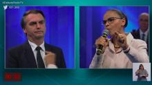 Embate entre Marina Silva e Jair Bolsonaro foi auge de tensão no debate da RedeTV!