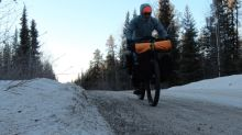 Man whose son died in Mackenzie River takes emotional 1,200-km bike ride to raise money