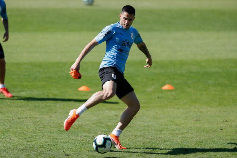 El jugador de la selección uruguaya de fútbol Maxi Gómez. EFE/ Juan Ignacio Roncoroni/Archivo