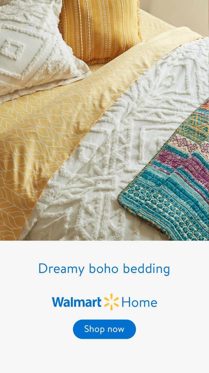 Boho-chic bedding