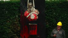 Belgium takes down statue of former king over millions of deaths in colonial Africa