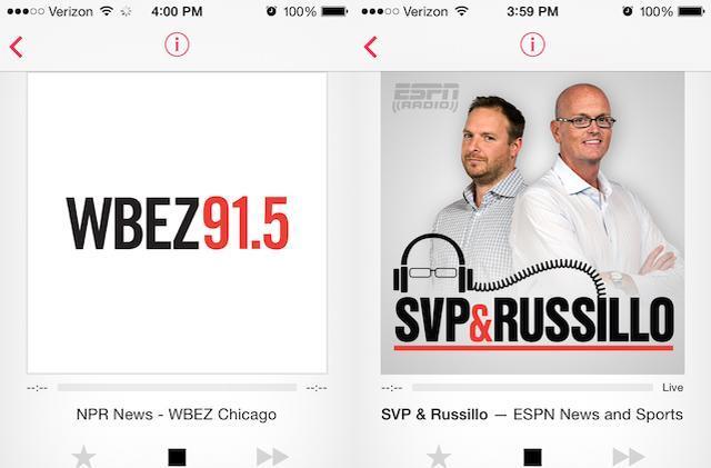 Apple adds ESPN Radio, local NPR to iTunes Radio