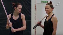 Mira el increíble entrenamiento de Daisy Ridley para Star Wars: Los últimos Jedi