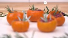This Christmas, Serve Cranberry-Orange Shots in Cute Clementine Cups