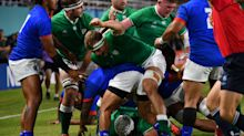 Ireland secure Rugby World Cup quarter final spot with a bonus-point victory over Samoa
