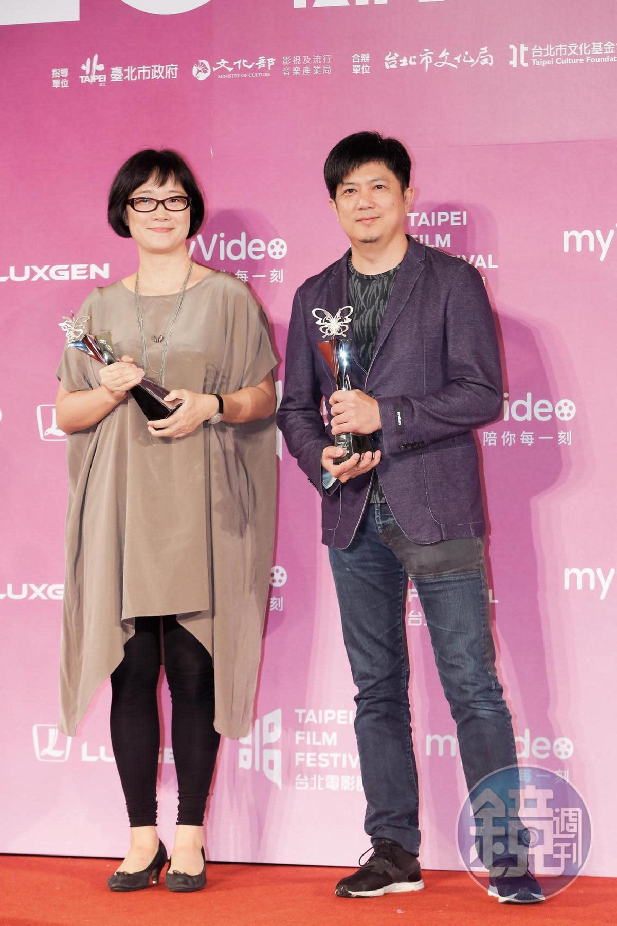 雷光夏(左)、侯志堅(右)以《范保德》獲頒本屆台北電影獎最佳配樂獎。