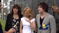 The Band Perry performs military salute