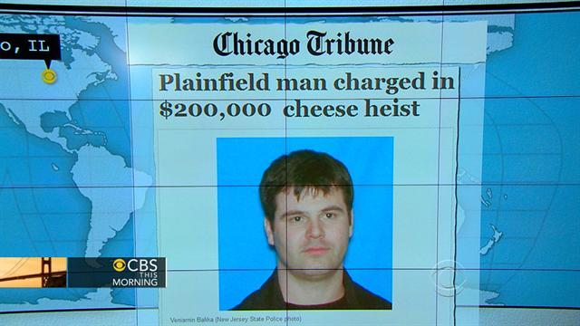 Headlines at 8:30: Man charged with stealing truckload of cheese