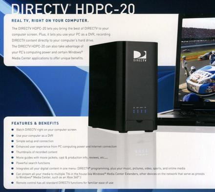DirecTV's PC tuner (HDPC-20) is real!