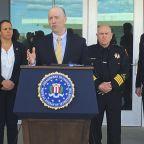 FBI seeks motive for fiery van crash at California air base