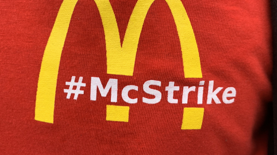 McDonald's workers on strike 'struggling to keep the lights on'
