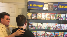 Father builds mini Blockbuster store at home for autistic son after local one closes
