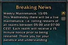 Updated: European weekly maintenance: 13th May 2009
