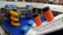 Shopping paulistano causa polêmica ao lançar brinquedo do Titanic