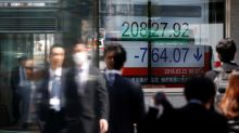 Asia stocks sag on oil's slide, dollar dips before Fed testimony