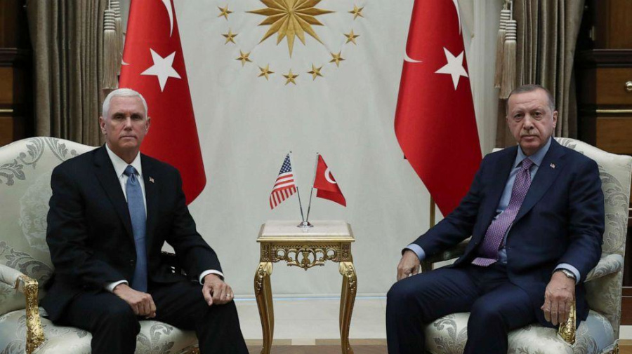 Pence announces ceasefire deal with Turkey