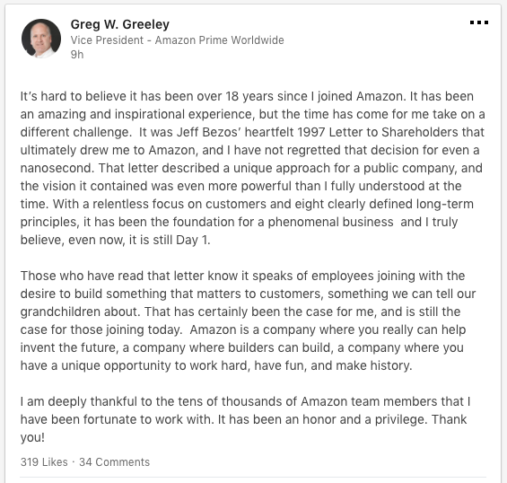 What Is Executive Privilege Yahoo Answers: Amazon Prime Executive Greg Greeley Leaves For Airbnb