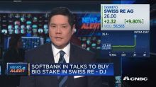 Softbank in talks to buy stake in Swiss Re, says Dow Jone...