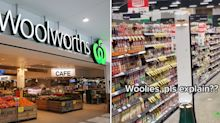 Woolworths customers baffled by unusual sight in aisle