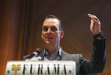 Travis Tygart, CEO of the United States Anti-Doping Agency, speaks during Anti-Doping Intelligence and Investigation Seminar in Singapore