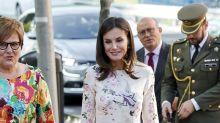 L'abito low cost (e riciclato) da 100€ della Regina Letizia di Spagna
