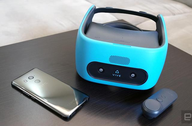 Vive Focus VR update lets you take calls from the real world