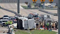 At least 2 dead in bus crash east of DFW airport