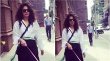 Priyanka Chopra walks in style with her pet Diana on the streets of New York