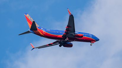 Southwest flight turns back after human heart found