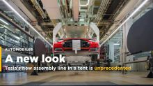 Tesla's new assembly line in a tent is unprecedented