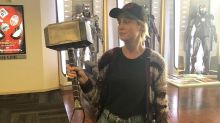 Brie Larson Wields Thor's Hammer in Funny Picture: 'Told You I Could Lift It'