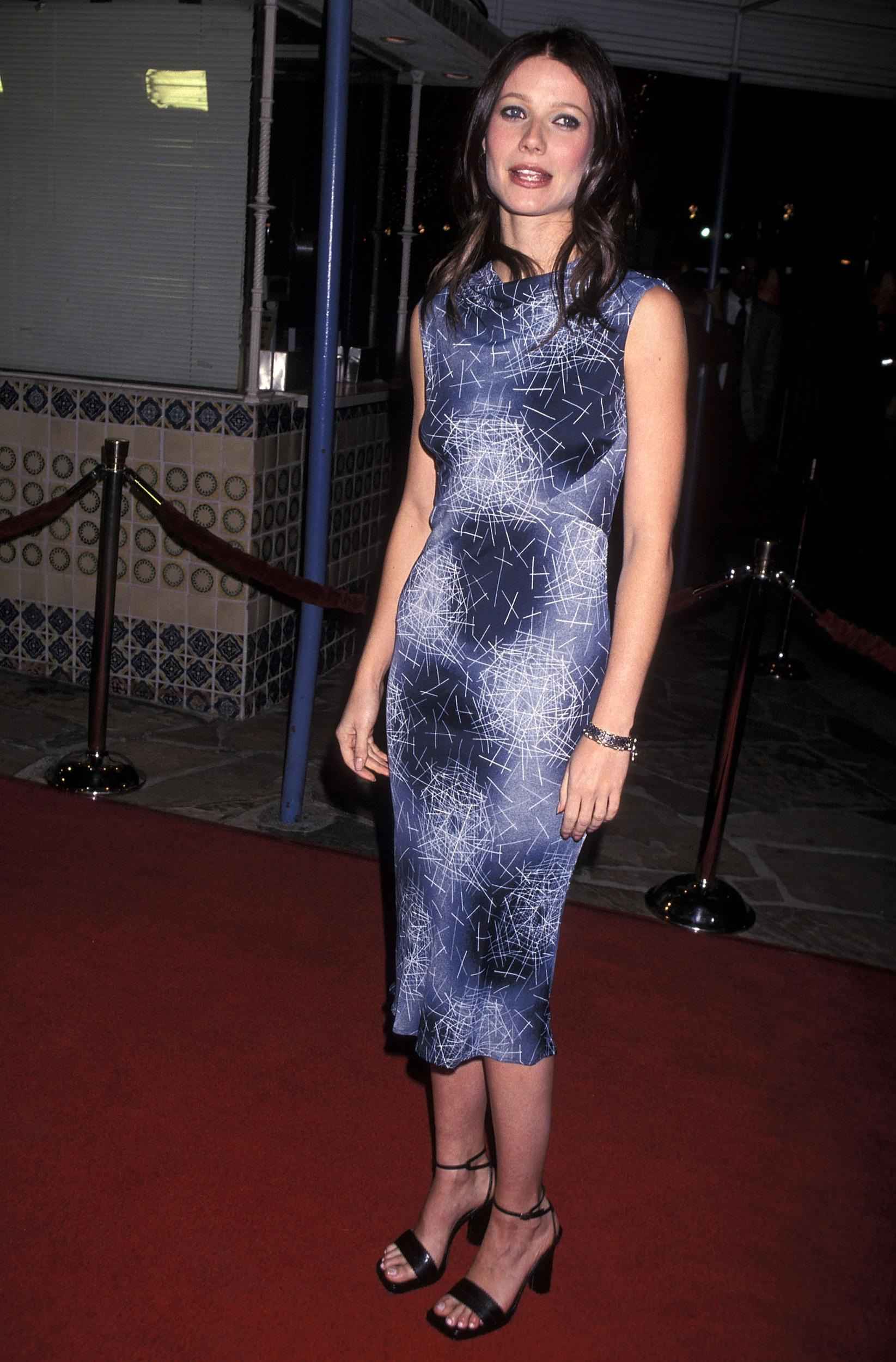 Actress Gwyneth Paltrow attends 'The Talented Mr. Ripley' Westwood Premiere on December 12, 1999 at Mann Village Theatre in Westwood, California. (Photo by Ron Galella, Ltd./WireImage)