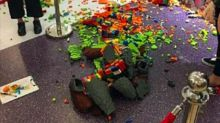 Child Destroys £10,000 Lego Statue That Artist Spent THREE DAYS Building